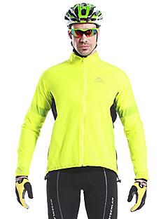 Mysenlan サイクリングジャケット 男性用 バイク ジャケット トップス サイクルウェア 防水 速乾性 防風 耐久性 反射性トリム パッチワーク レジャースポーツ サイクリング / バイク