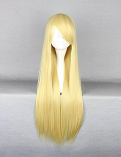 Cosplay Wigs Cosplay Cosplay Golden Long Anime Cosplay Wigs 80 CM Heat Resistant Fiber Female