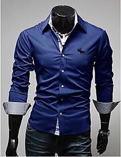 Neformalan Ležerne košulje - MEN Dugi rukav ( Pamuk )