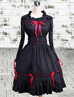 billiga Lolitaklänningar-Gotisk Lolita Vintage-inspirerad Dam One-piece Klänning Cosplay Långärmad