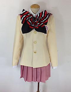 """billige Anime Kostymer-Inspirert av Blå Eksorsist Shiemi Moriyama Anime  """"Cosplay-kostymer"""" Cosplay Klær / Skoleuniformer Sløyfeknute Langermet Frakk / Genser / Skjørte Til Dame Halloween-kostymer"""