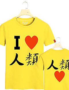 """Inspirert av Intet Spill Intet Liv Cosplay Anime  """"Cosplay-kostymer"""" Cosplay T-skjorte Trykt mønster Kortermet T-Trøye Til Mann"""