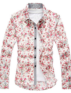RUILIKE®Men's European Casual Floral Print Long Sleeve Shirt