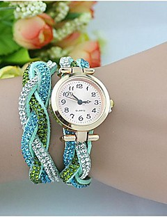 Women's Fashion  Crystal Leather Winding Bracelet Watch(Assorted Colors) Cool Watches Unique Watches Strap Watch