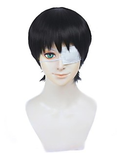 billiga Anime/Cosplay-peruker-Cosplay Peruker Tokyo Ghoul Ken Kaneki Animé Cosplay-peruker 12 tum Värmebeständigt Fiber Herr halloween Peruker