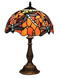 baratos Lâmpadas de Cabeceira-60W Tiffany Luzes de Mesa , Característica para Proteção de Olhos , com Pintura Usar Interruptor On/Off Interruptor