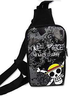 Veske Inspirert av One Piece Cosplay Anime Cosplay Tilbehør Veske Svart Lerret Mann / Kvinnelig