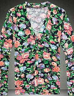 billige Herremote og klær-Herre Store størrelser Cardigan - Ensfarget