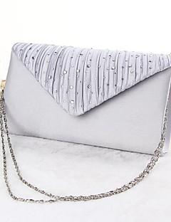 hesapli -Kadın's Çantalar Polyester Gece Çantası için Davet / Parti İlkbahar yaz Siyah / Gümüş / Bej / Düğün Çantaları / Düğün Çantaları