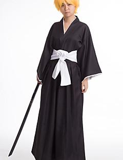"""billige Anime cosplay-Inspirert av Cosplay Cosplay Anime  """"Cosplay-kostymer"""" Cosplay Klær / Japansk Kimono Ensfarget Langermet Topp / Bukser Til Herre / Dame Halloween-kostymer"""