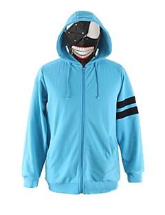 geinspireerd door Tokyo Ghoul Ken Kaneki Anime Cosplaykostuums Cosplay Sweaters Effen Print  Lange mouw Top Voor Mannelijk