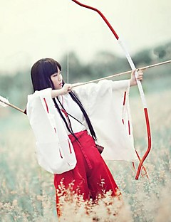 billige Anime cosplay-Cosplay Parykker InuYasha Kikyo Anime Cosplay-parykker 80 CM Varmeresistent Fiber Dame