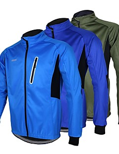 cheap Cycling Jackets-Arsuxeo Cycling Jacket Men's Bike Jacket Top Winter Fleece Bike Wear Waterproof Thermal / Warm Windproof Anatomic Design Fleece Lining