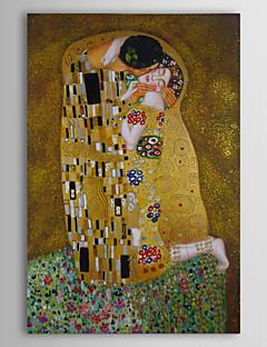 tanie Portrety abstrakcyjne-Hang-Malowane obraz olejny Ręcznie malowane - Sławny Ludzie Portret abstrakcyjny Klasyczny Brezentowy