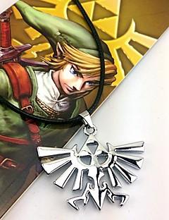 billige Anime cosplay-Smykker Inspirert av The Legend of Zelda Cosplay Anime / Videospil Cosplay Tilbehør Halskjede Sølv Legering Mann