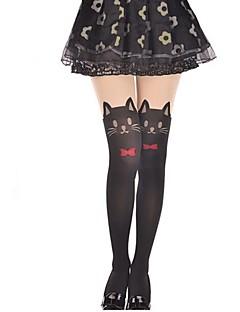 billiga Lolitamode-Lårhöga strumpor Strumpor / Strumpbyxor Söt Lolita Lolita Prinsessa Dam lolita tillbehör Enfärgad Katt Rosett Strumpbyxor Sammet