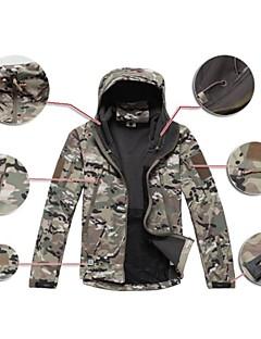 baratos Roupas de Caça-Jaqueta Camuflada de Caçador Homens Prova-de-Água Secagem Rápida Á Prova-de-Chuva Zíper Frontal Vestível Alta Respirabilidade (>15,001g)