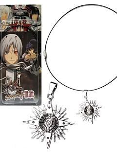billige Anime Cosplay Tilbehør-Smykker Inspirert av Gjenfødt! Cosplay Anime Cosplay Tilbehør Halskjede Sølv Legering Mann