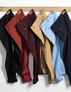 A bărbaților Bumbac / Poliester / Amestec Bumbac / Denim Pur Casual Negru / Albastru / Multi Color / Roșu