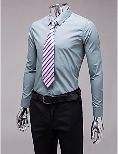 cheap Shirts-Classic / Semi-Spread Neck Long Sleeves Cotton Polyester Shirt for Suits