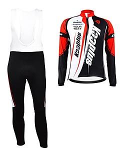 billiga Cykling-Kooplus Herr Dam Unisex Långärmad Cykeltröja med Haklapp-tights Cykel Bib Tights Tröja Klädesset Välj färg 6 # Välj färg 7 # Välj färg 8