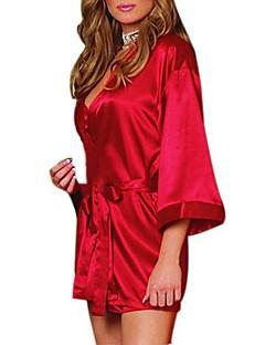 Damen Roben Nachtwäsche Solide-Baumwollmischung