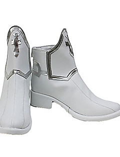 cheap Anime Cosplay Shoes-White PU Leather Cosplay Shoes Inspired by Sword Art Online Asuna
