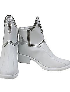 baratos Sapatos Cosplay Anime-Botas de Fantasia Sword Art Online Asuna Yuuki Anime Sapatos de Cosplay PU Leather Homens / Mulheres Trajes da Noite das Bruxas