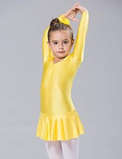 tanie Dziecięca odzież do tańca-Balet Suknie Damskie Spandeks Długi rękaw Ubierać