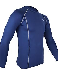 billiga Träning-, jogging- och yogakläder-Arsuxeo Herr Långärmad Cykeltröja - Marinblå / Ljusgrå / ljusgrön Cykel Tröja / Cykling Tights, Snabb tork, Anatomisk design, / Polyester
