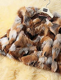 billige Lagersalg-pels 3/4 erme turndown reven pels spesiell anledning / uformell pels (flere farger)