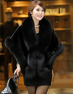 Fur Coats Imitation Fur Big Shawl Cloak
