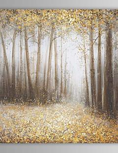 tanie Pejzaże abstrakcyjne-Ręcznie malowane Krajobraz Kwadrat Brezentowy Hang-Malowane obraz olejny Dekoracja domowa Jeden panel