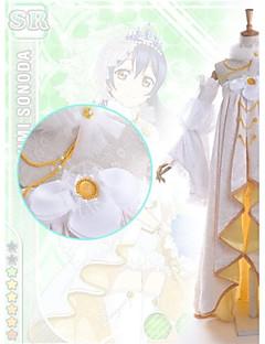 baratos Fantasias Anime-Inspirado por Amar viver Umi Sonoda Anime Fantasias de Cosplay Vestidos Patchwork Manga Longa Vestido Colar Mangas Calções Para Feminino