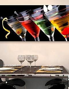 e-Home® strakt lærred kunst vin glas dekoration maleri