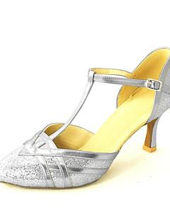 Feminino Moderna Sapatos Padrão Glitter Paetês Salto Alto Fivela Salto Personalizado Vermelho Rosa Prateado Azul Dourado Personalizável