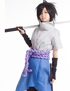 """Inspirert av Naruto Sasuke Uchiha Anime  """"Cosplay-kostymer"""" Cosplay Klær Lapper Topp Bukser Hansker Forkle Midje Tilbehør Til Mann"""