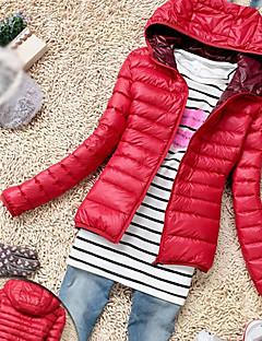 TnL dámské módy dlouhým rukávem s kapucí ležérní bavlna kabát