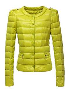 kakani dámské European Fashion jednobarevná bavlněná kabát