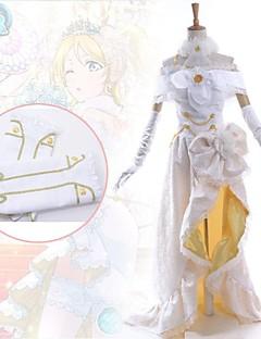 baratos Fantasias Anime-Inspirado por Amar viver Eri Ayase Anime Fantasias de Cosplay Vestidos Patchwork Sem MangaVestido Colar Bracelete Luvas Aquecedores de