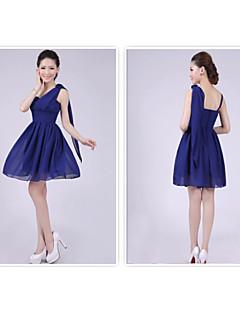 levne Krátké družičkovské šaty-A-Linie Princess Špagetová ramínka Krátký / Mini Šifón Šaty pro družičky s Sklady podle