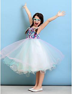 Ballkjole Grime Knelang Tyll Junior brudepikekjole med Blomst(er) av LAN TING BRIDE®