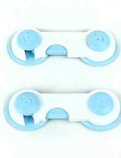 plastic de blocare de siguranță pentru copii - alb albastru deschis + (2 buc)