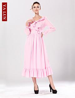 baratos Ponta de Estoque-Mulheres Calças - Sólido Estilo Moderno Rosa claro