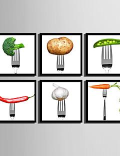 Blomstret/Botanisk / Mad/ Drikke Indrammet Lærred / Indrammet Sæt Wall Art,PVC Sort Ingen Måtte med Frame Wall Art