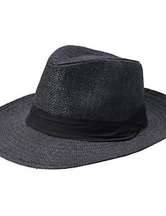 billige Trendy hatter-Unisex Vintage Fedora Stråhatt Ensfarget