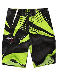 billige Herrebukser og -shorts-Herre Sporty Grønn Blå Badeshorts Nederdeler Badetøy - Geometrisk Trykt mønster M L XL / Sommer / 1 Deler / Super Sexy