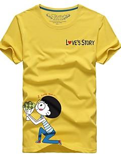 billige plusstørrelser-Herre-Trykt mønster Tegneseriefigurer Chic & Moderne T-shirt