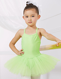 cheap Kids' Dancewear-Ballet Leotards Training Performance Spandex Tulle Sleeveless Princess Dress