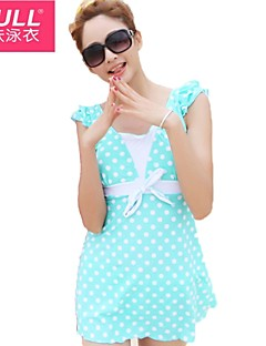 cheap Women's Swimwear & Bikinis-Lovely woman polka dot dress style bathing suit
